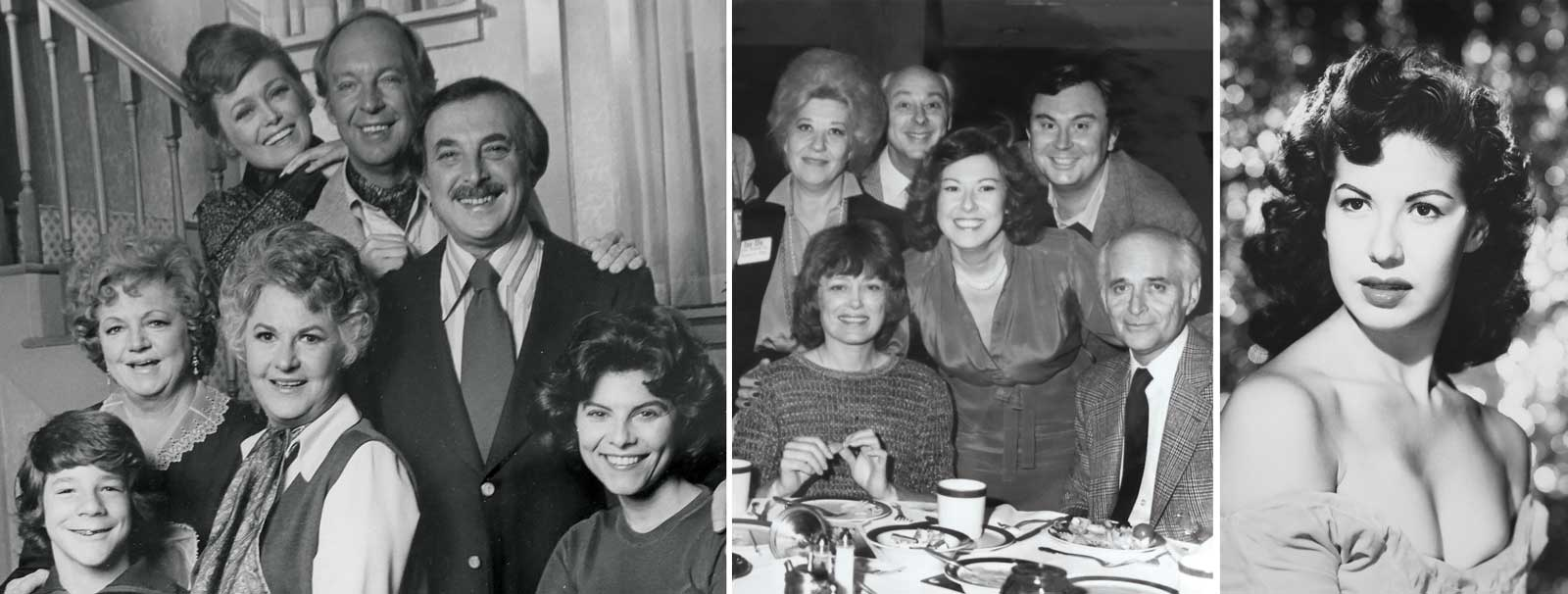 The cast of Maude including Bea Arthur, Bill Macy, Conrad Bain; Cast including Rue McClanahan with Fern Field and Norman Lear; Fern Field